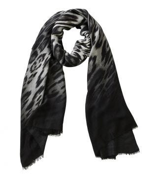 The Lynx Scarf grey & black | OSPREY LONDON