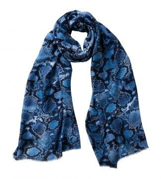 The Python Scarf blue