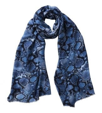 The Python Scarf blue | OSPREY LONDON