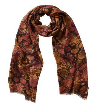 The Python Scarf orange | OSPREY LONDON