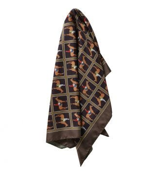 The Giddy Up Scarf olive green | OSPREY LONDON