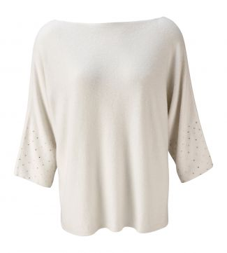 The Jazzy Cashmere Jumper in pearl
