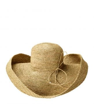 The St Tropez Sunhat in natural | OSPREY LONDON