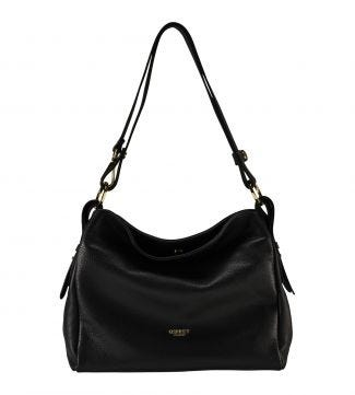The Maria Italian Leather Cross-Body & Shoulder Bag in black