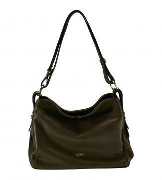 The Maria Italian Leather Cross-Body & Shoulder Bag in olive green