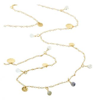 The Long Estrella 18ct Gold Vermeil & Gemstone Necklace