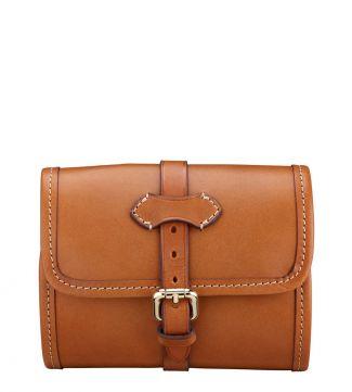 The Marcello Italian Leather Travel Washbag in cognac | OSPREY LONDON