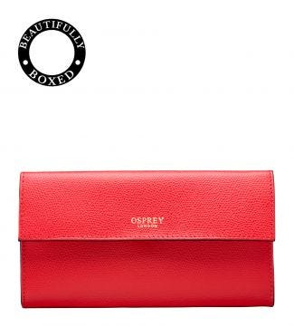 The Rainbow Large Leather Matinee Purse in red
