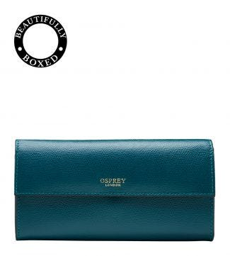 The Rainbow Large Leather Matinee Purse in teal