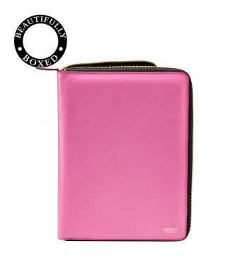 The Rainbow Leather Document Case in pink | Women | OSPREY LONDON