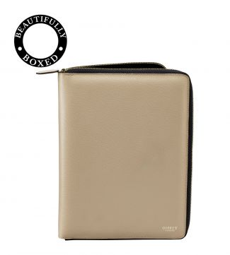 The Rainbow Leather Document Case Taupe
