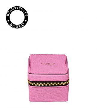 OSPREY LONDON | The Rainbow Cube Leather Trinket Box pink