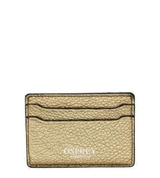 The Angelica Italian Leather Cardholder in gold