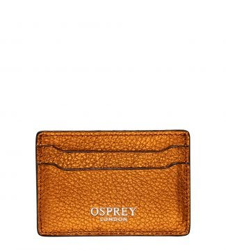 The Angelica Leather Cardholder in pumpkin
