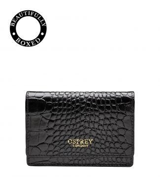 The Viola Leather Business Cardholder in black