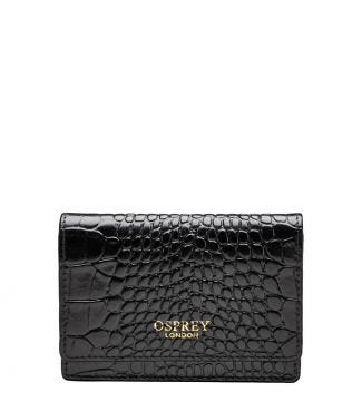 The Viola Leather Business Cardholder in black | OSPREY LONDON