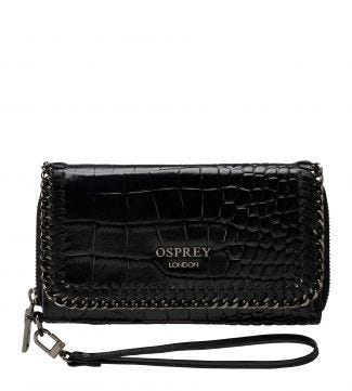 The Suzanne Leather Matinee Purse & Clutch in black