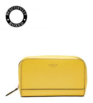 The Rainbow Leather Vanity in lemon