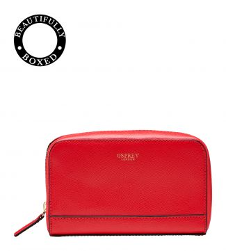 The Rainbow Leather Vanity in red