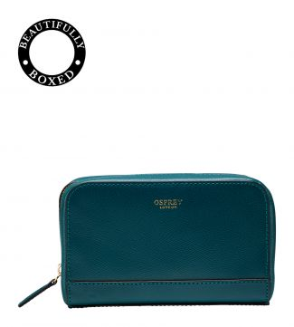 The Rainbow Leather Vanity in teal