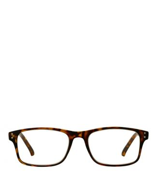 The Ballard Reading Glasses in shiny amber tortoiseshell
