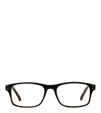The Ballard Reading Glasses in shiny black graduated tortoiseshell