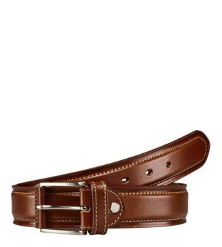 The Caine Leather Belt in cognac
