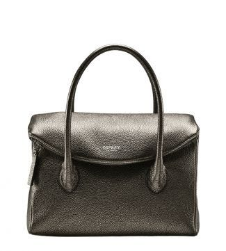 The Carina Italian Leather Organiser Grab in metallic bronze | OSPREY LONDON