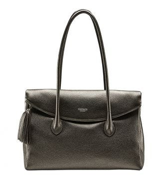 The Carina Italian Leather Workbag in metallic bronze| OSPREY LONDON
