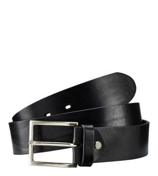 The Carlo Italian Leather Belt in black