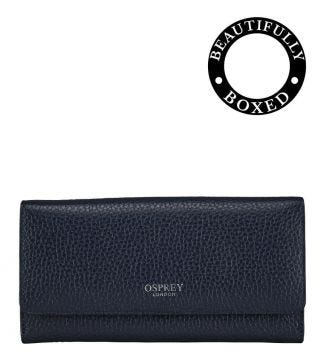 The Large Castello Leather Matinee Purse in midnight | Women | OSPREY LONDON
