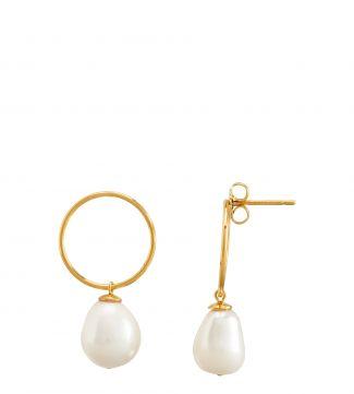 The Elena Halo Pearl Earrings   OSPREY LONDON