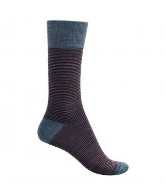 English Luxury Wool Socks in burguny and grey | OSPREY LONDON