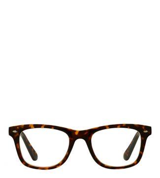 The Fitzgerald Reading Glasses in matte dark chocolate tortoiseshell