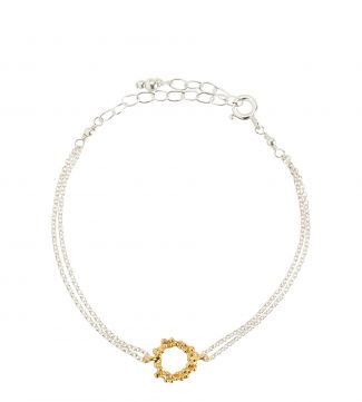 The Gabriella Halo 18ct Gold Vermeil Bracelet | OSPREY LONDON