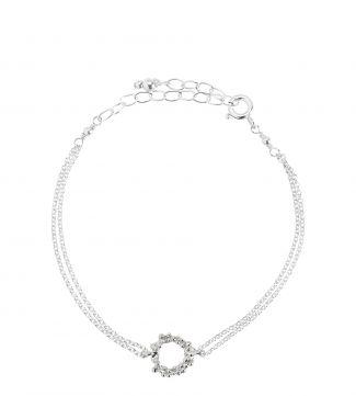 The Gabriella Halo Sterling Silver Bracelet | OSPREY LONDON