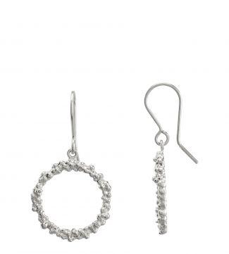 The Gabriella Halo Sterling Silver Drop Earrings | OSPREY LONDON