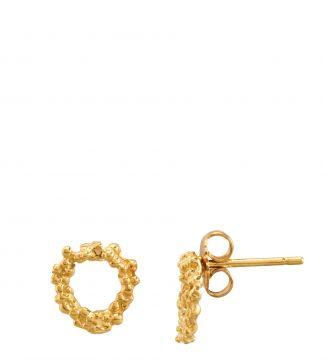 The Gabriella Halo 18ct Gold Vermeil Stud Earrings | OSPREY LONDON