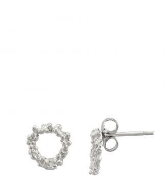 The Gabriella Halo Sterling Silver Stud Earrings | OSPREY LONDON