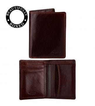 The Hawksmoor Leather Cardholder in chestnut | OSPREY LONDON