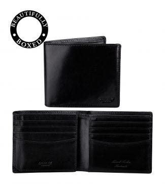 The Hawksmoor Leather E/W Billfold Wallet in black | OSPREY LONDON