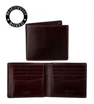The Hawksmoor Leather E/W Billfold Wallet in chestnut | OSPREY LONDON