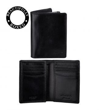 The Hawksmoor Leather N/S Billfold Wallet in black | OSPREY LONDON