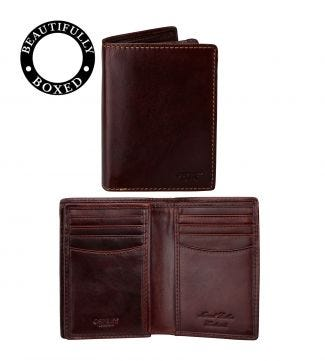 The Hawksmoor Leather N/S Billfold Wallet in chestnut | OSPREY LONDON
