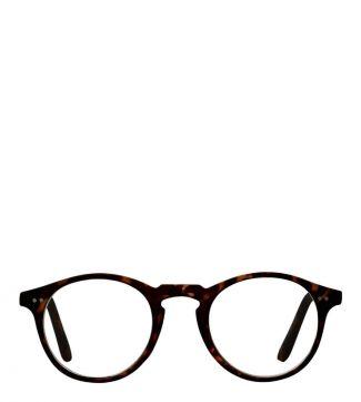 The Hemingway Reading Glasses in matte dark chocolate tortoiseshell