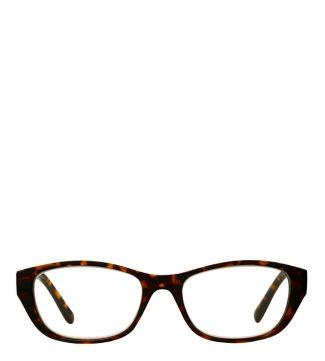 The Lee Reading Glasses in shiny dark tortoiseshell