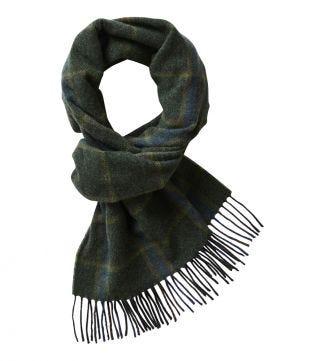 The Mackintosh Wool Scarf in green   OSPREY LONDON