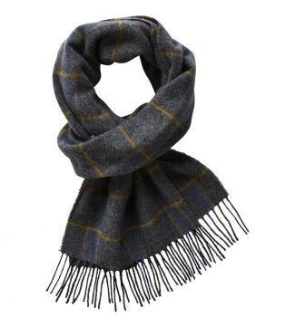 The Mackintosh Wool Scarf in grey   OSPREY LONDON