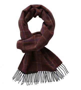 The Mackintosh Wool Scarf in rust   OSPREY LONDON