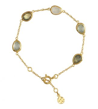 18ct Gold Vermeil & Gemstone Bracelet